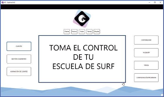 PantallaPrincipal - Programa para la gestión de tu escuela de Surf
